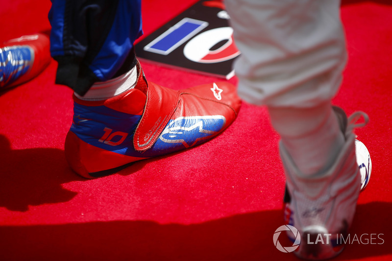 The boots of Pierre Gasly, Toro Rosso