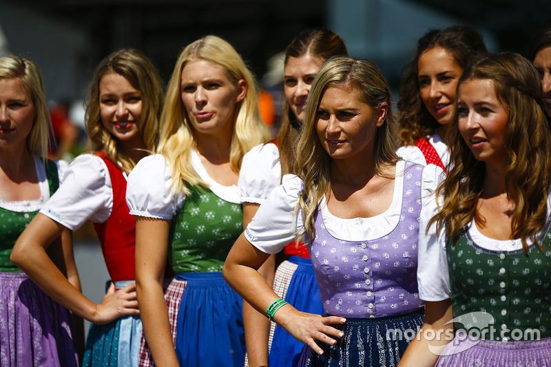 Austrian girls in dirndls strike a pose