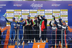 LMP3 Podyum: Yarış galibi #11 Eurointernational Ligier JS P3 - Nissan: Giorgio Mondini, Kay Van Berlo, 2. #6 360 Racing Ligier JS P3 - Nissan: Terrence Woodward, Ross Kaiser, James Swift, 3. #3 United Autosports Ligier JS P3 - Nissan: Anthony Wells, Garret Grist, Matthew Bell