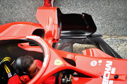 Ferrari SF71H bargeboard, sidepod detay