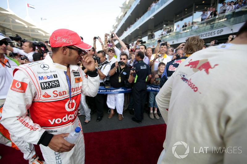 Lewis Hamilton, McLaren, lors de la parade des pilotes