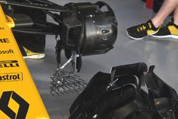 Treillis de capteurs sur la Renault Sport F1 Team RS17