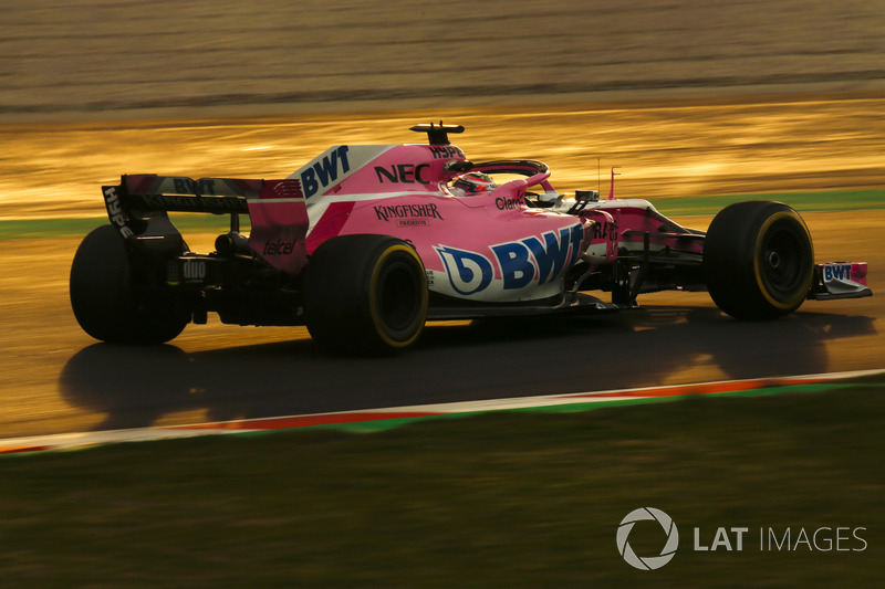 19º Sergio Perez, Force India VJM11: 1:19.634 (Hiperblando)