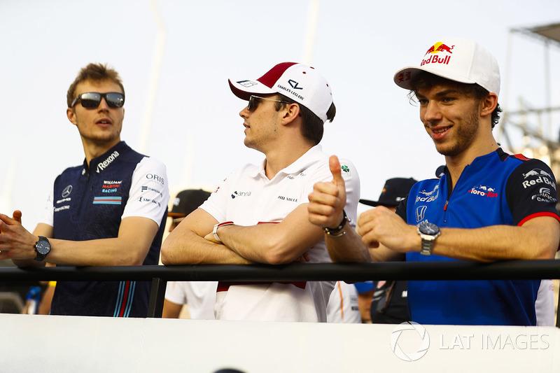 Sergey Sirotkin, Williams Racing, Charles Leclerc, Sauber, Pierre Gasly, Toro Rosso