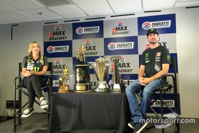 Brittany Force and Kurt Busch ride swap