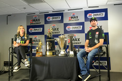 Brittany Force and Kurt Busch