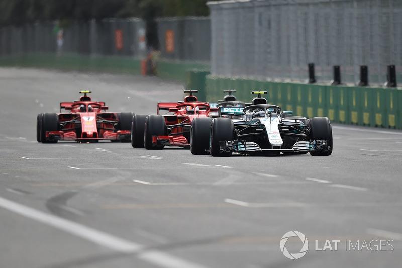 Валттері Боттас, Mercedes-AMG F1 W09 EQ Power+, Себастьян Феттель, Ferrari SF71H