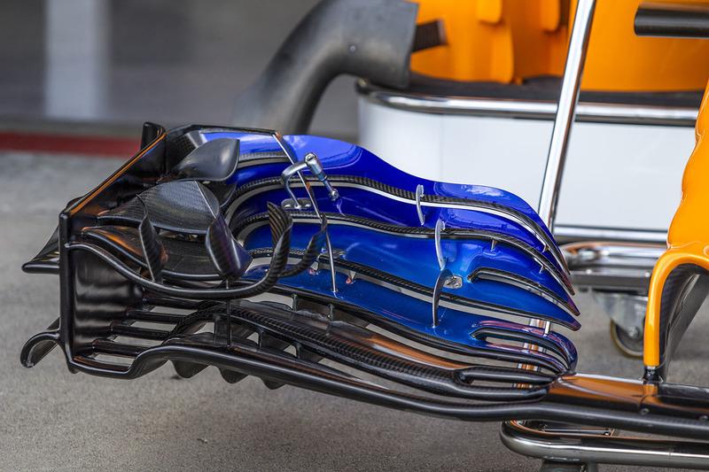 L'aileron avant de la McLaren MCL33