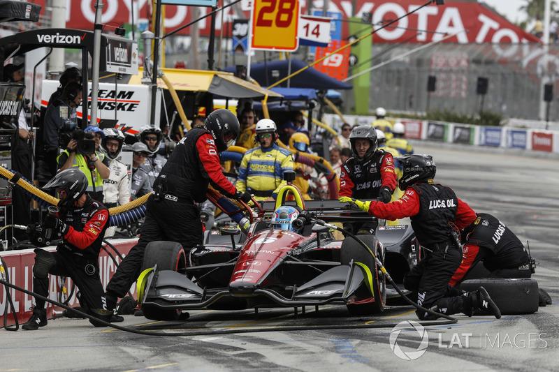 Robert Wickens, Schmidt Peterson Motorsports Honda, au stand