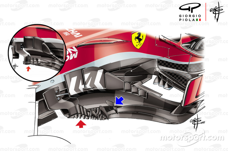 Ferrari SF71H bargeboard, United States GP