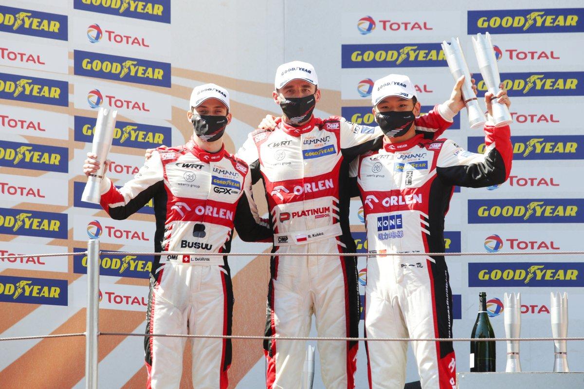 Overall winners #41 Team WRT Oreca 07 - Gibson: Louis Delétraz, Robert Kubica, Yifei Ye