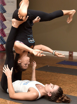 Danica Patrick, Stewart-Haas Racing during a yoga event