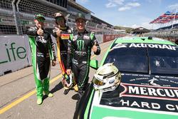 Mark Winterbottom, Prodrive Racing Australia Ford, Chaz Mostert, Rod Nash Racing Ford, Cameron Waters, Prodrive Racing Australia Ford