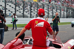 Sebastian Vettel (GER) Ferrari on the drivers parade