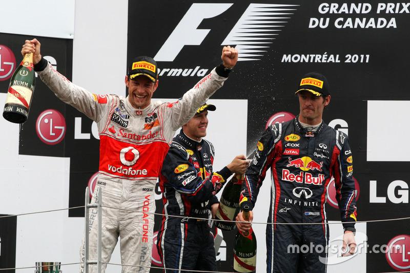 2011. Подіум: 1. Дженсон Баттон, McLaren-Mercedes. 2. Себастьян Феттель, Red Bull - Racing. 3. Марк Веббер, Red Bull - Racing