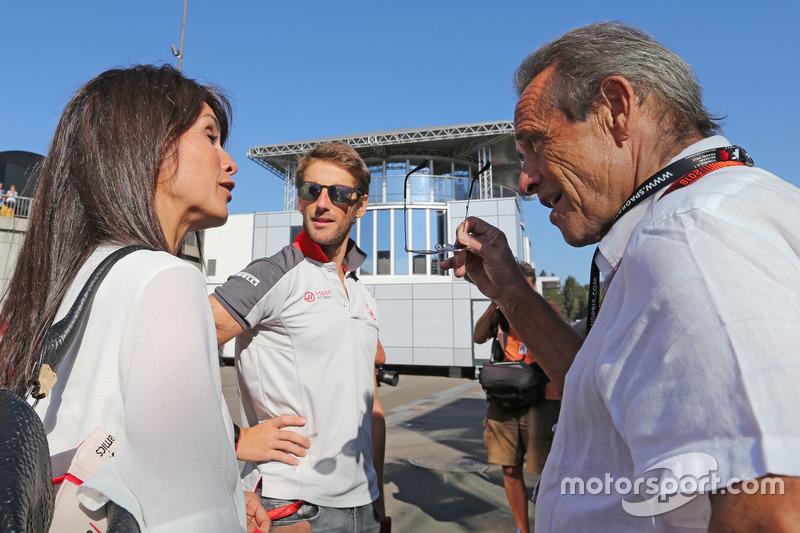 Romain Grosjean, Haas F1 Team e Jacky Ickx
