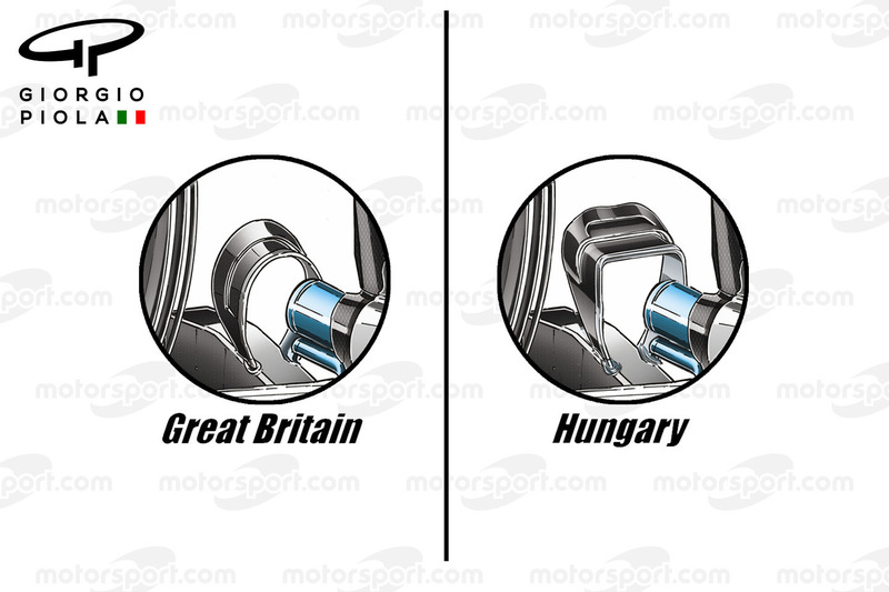 Mercedes W07 monkey seats comparison, Hungarian GP