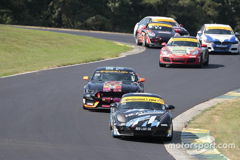 #38 Next Level European Porsche Cayman: Dan Rogers, Seth Thomas, #76 Compass360 Racing Ford Shelby GT350R-C: Paul Holton, Pierre Kleinubing