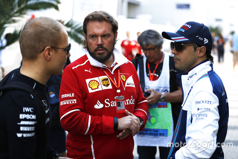 Gino Roast, Chief of F1 Operations, Ferrari, Valtteri Bottas, Mercedes AMG F1, Felipe Massa, Williams