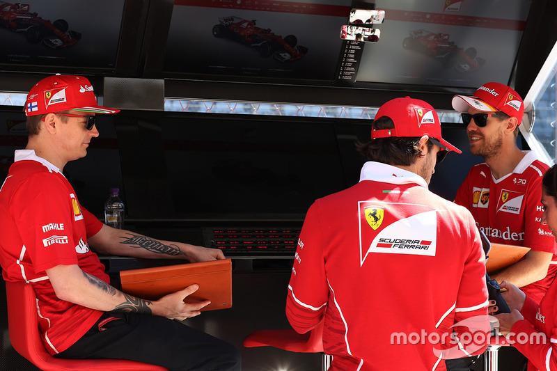 Kimi Raikkonen, Ferrari, Sebastian Vettel, Ferrari