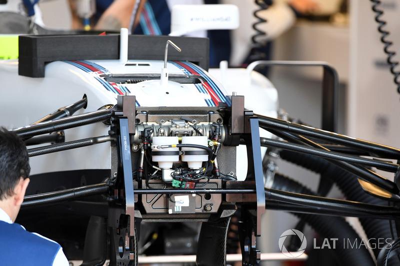 Детали передней подвески Williams FW40