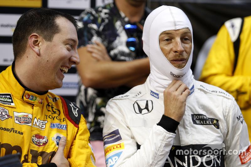 Kyle Busch y Jenson Button