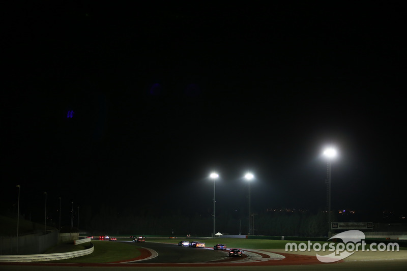 Night race action