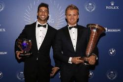 Formel-1-Weltmeister Nico Rosberg, Mercedes AMG F1; 3. Daniel Ricciardo, Red Bull Racing