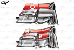 McLaren MP4-27 front wing (lower is the new specification without the main cascade)