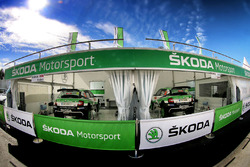 Skoda Motorsport team area