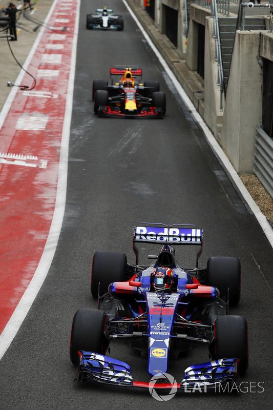 Данііл Квят, Scuderia Toro Rosso STR12, Макс Ферстаппен, Red Bull Racing RB13, Валттері Боттас, Merc