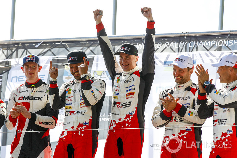Podium: 1. Esapekka Lappi, Janne Ferm, Toyota Racing; 2. Elfyn Evans, Daniel Barritt, M-Sport; 3. Juho Hänninen, Kaj Lindström, Toyota Racing