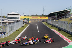 Ralph Boschung, Campos Racing, Santino Ferrucci, Trident, Charles Leclerc, PREMA Powerteam la partenza della gara