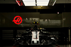 Haas F1 Team VF-17 in the garage