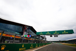 Rolex branding across the Silverstone pit straight, opposite the Silverstone Wing