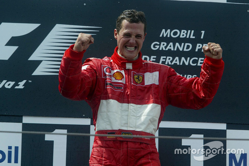 Podium: race winner Michael Schumacher, Ferrari