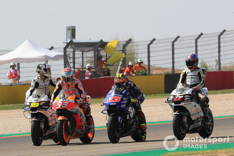 Marc Marquez, Repsol Honda Team, Maverick Viñales, Yamaha Factory Racing, practice start