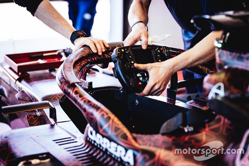 Le volant d'Alfa Romeo Racing