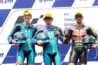 Luca Marini, Sky Racing Team VR46 Francesco Bagnaia, Sky Racing Team VR46 Miguel Oliveira, Red Bull KTM Ajo
