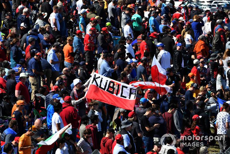 Pancarta de Robert Kubica, Williams