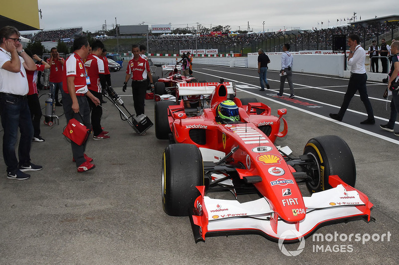 Felipe Massa, Ferrari at Legends F1 30th Anniversary Lap Demonstration