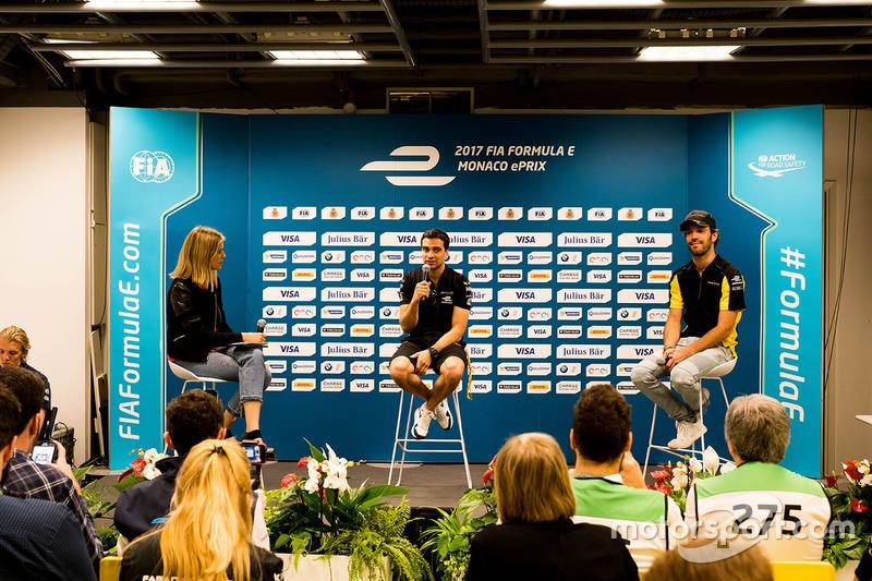 Press Conference: Jérôme d'Ambrosio, Dragon Racing, Jean-Eric Vergne, Techeetah