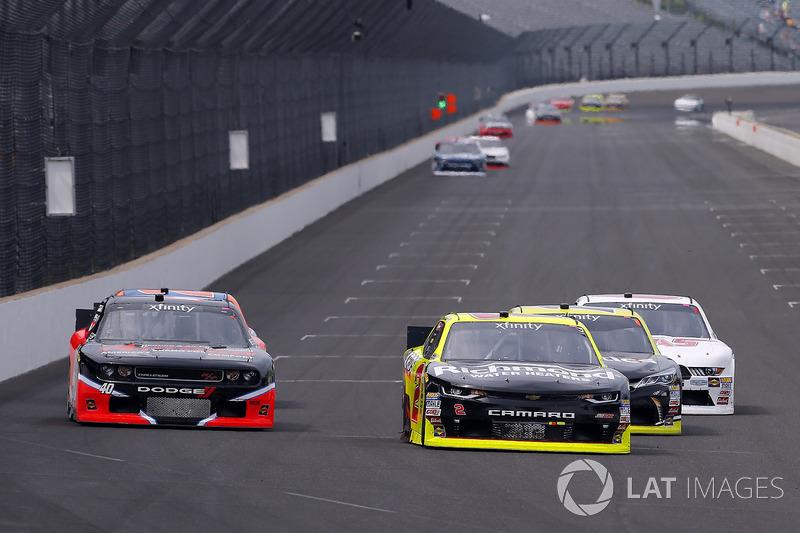 Paul Menard, Richard Childress Racing Chevrolet and Carl Long, Toyota Camry