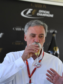 Chase Carey, Chief Executive Officer and Executive Chairman of the Formula One Group at a Carbon Champagne Media Reception