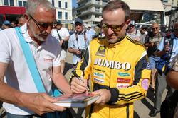 Rubens Barrichello, Racing Team Nederland with fan