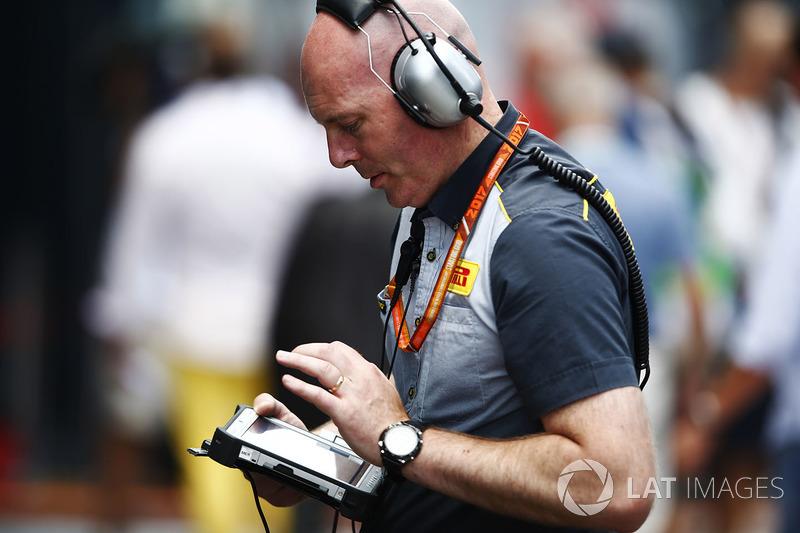 Інженер Pirelli за роботою