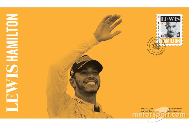 Sello de correos de Lewis Hamilton