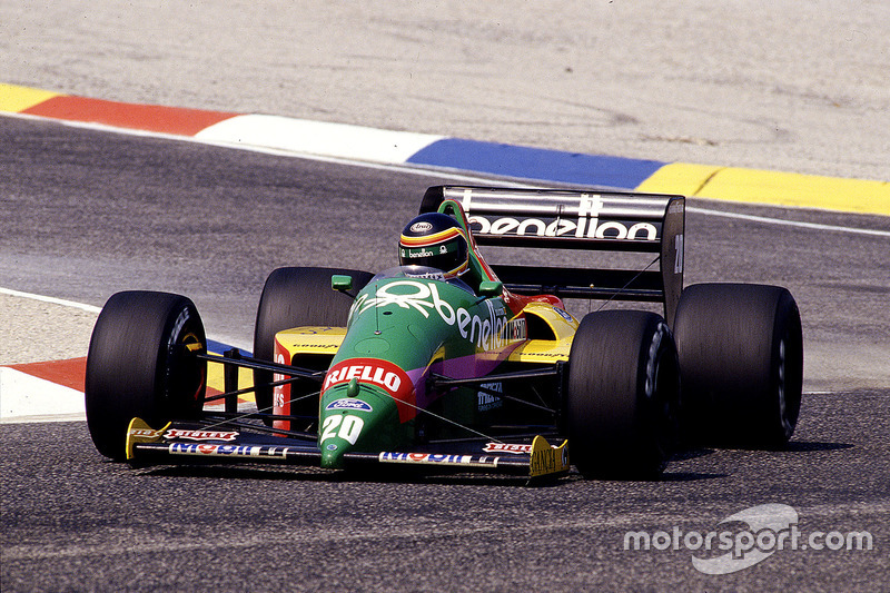 #20: Thierry Boutsen, Benetton B187, Ford
