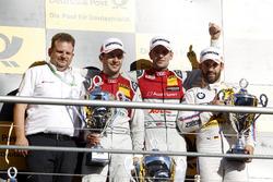 Podium: Sieger Jamie Green, Audi Sport Team Rosberg, Audi RS 5 DTM, 2. Mike Rockenfeller, Audi Sport Team Phoenix, Audi RS 5 DTM, 3. Timo Glock, BMW Team RMG, BMW M4 DTM