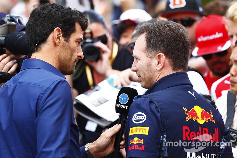 Mark Webber, Christian Horner director de Red Bull team